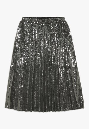 IVA SEQUIN PLEAT - Gonna a pieghe - gunmetal