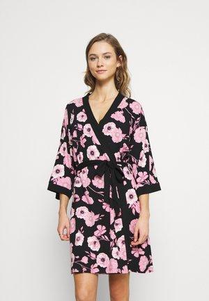 KIMONO - Dressing gown - black/pink