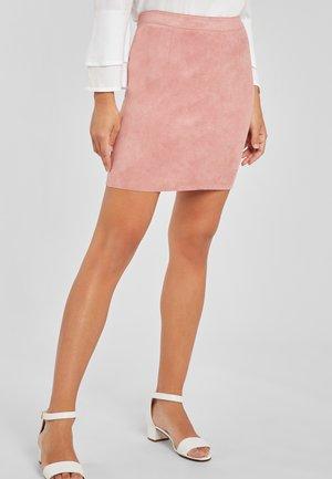 Leather skirt - rosa