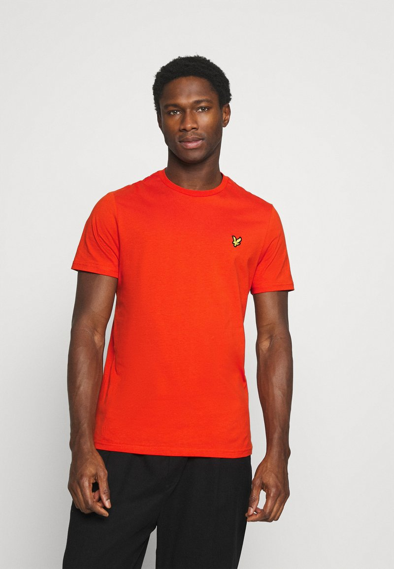 Lyle & Scott - PLAIN - T-shirt - bas - burnt orange