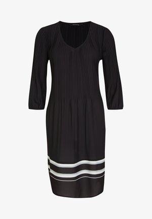 MIT KONTRAST-DETAILS - Day dress - black