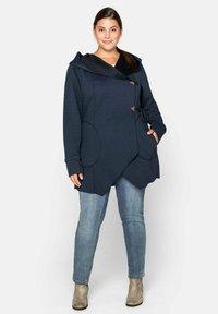 Sheego - Zip-up hoodie - nachtblau - 1