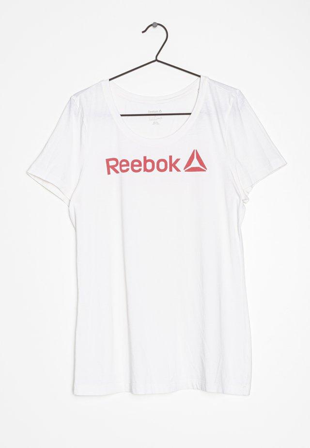 T-shirt print - white