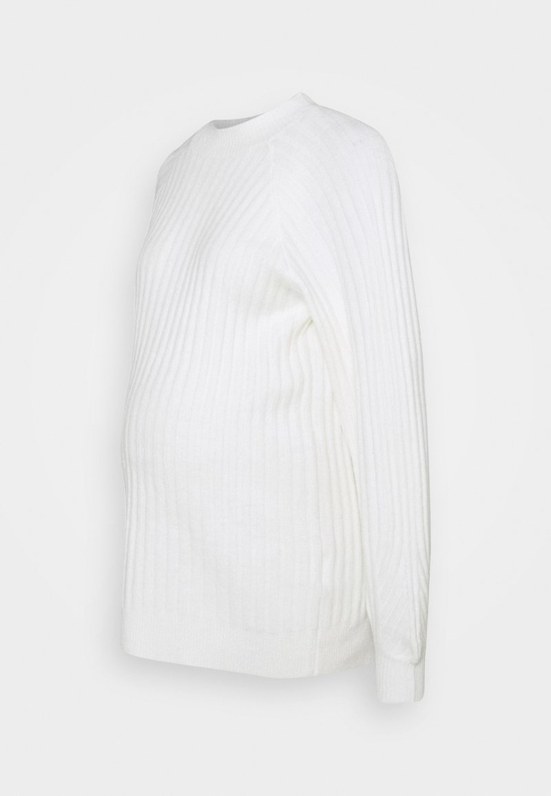 Pieces Maternity - PCMPOLLY LONG - Jumper - bright white