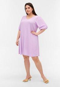 Zizzi - Jersey dress - purple rose - 1