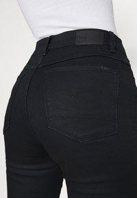 G-Star - 3301 HIGH FLARE - Flared Jeans - black metalloid cobler - 4