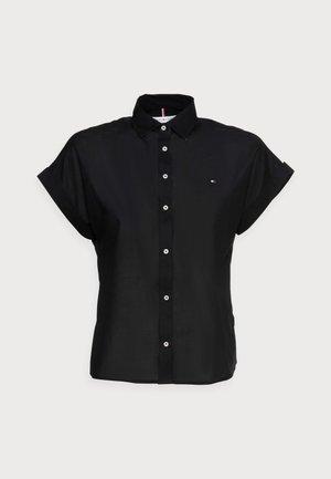 COTTON VOILE RELAXED SHIRT - Košile - black
