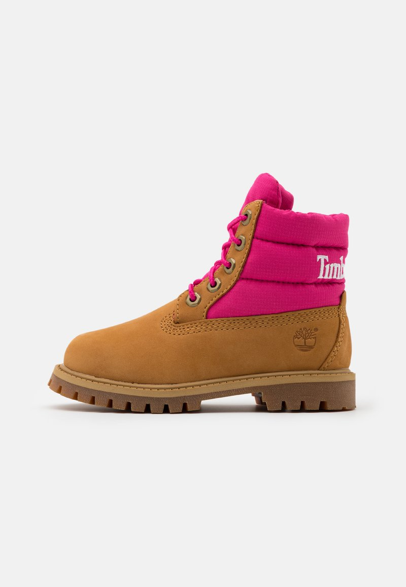 Timberland - PREMIUM - Lace-up ankle boots - wheat/pink