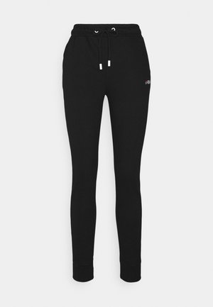 LAKI PANTS - Tracksuit bottoms - black/bright white
