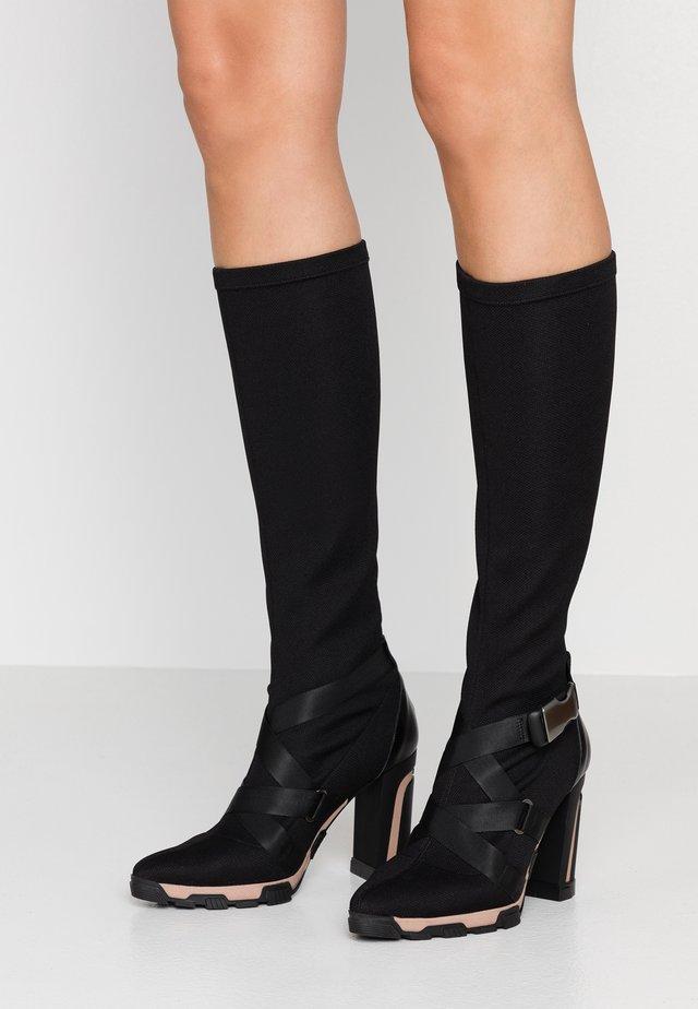 Stivali con i tacchi - celba nero/boston nero