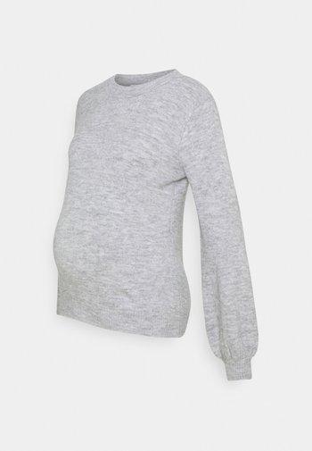 PCMPERLA - Jumper - light grey melange