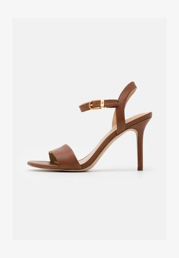 GWEN - Sandály na vysokém podpatku - deep saddle tan