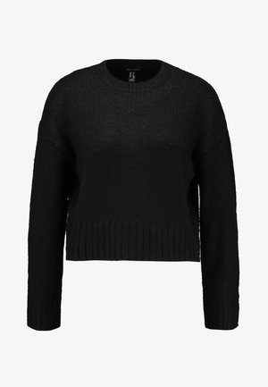 BOXY STRAIGHT SLEEVE - Strikkegenser - black