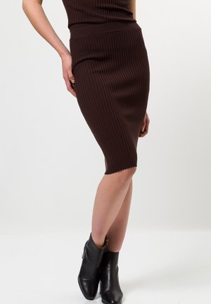 Pencil skirt - mocca