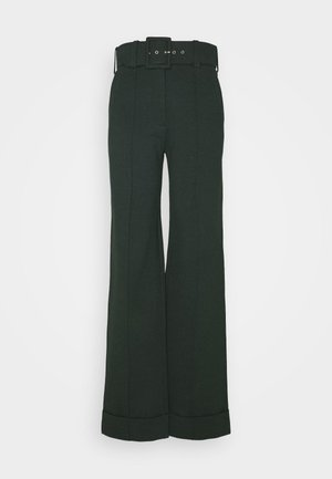 BELTED TROUSER - Spodnie materiałowe - ivy green