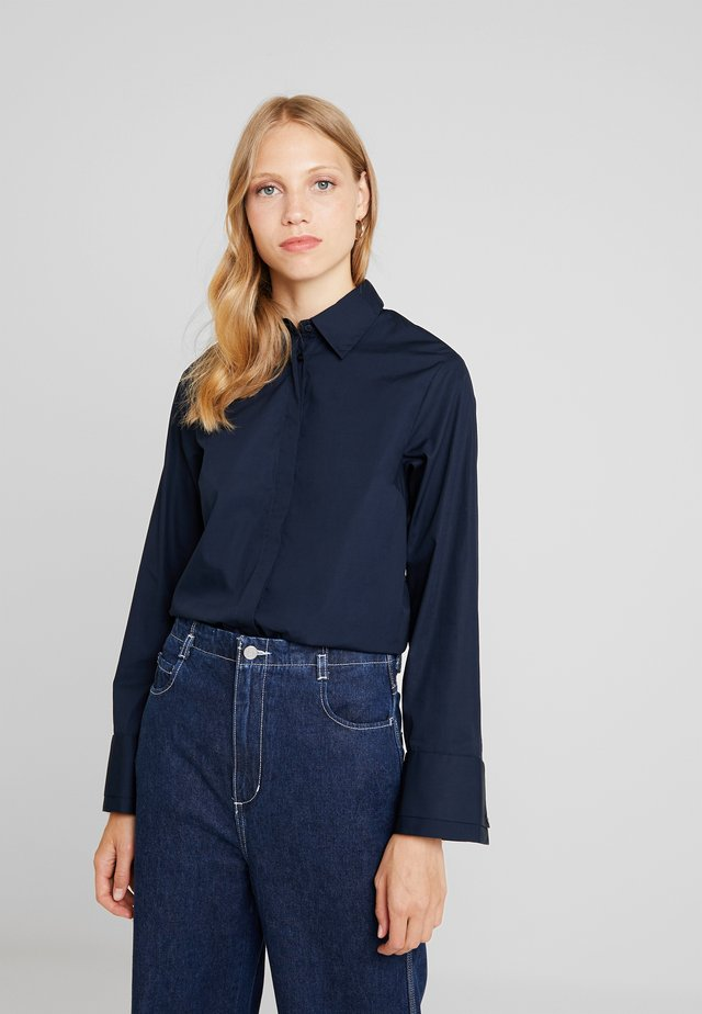 Button-down blouse - sky captain