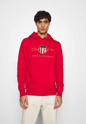 ARCHIVE SHIELD HOODIE - Luvtröja - bright red