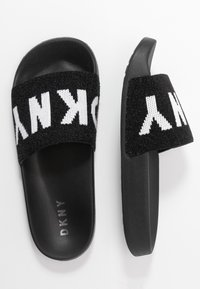 DKNY - ZAX SLIDE  - Mules - black/white - 3