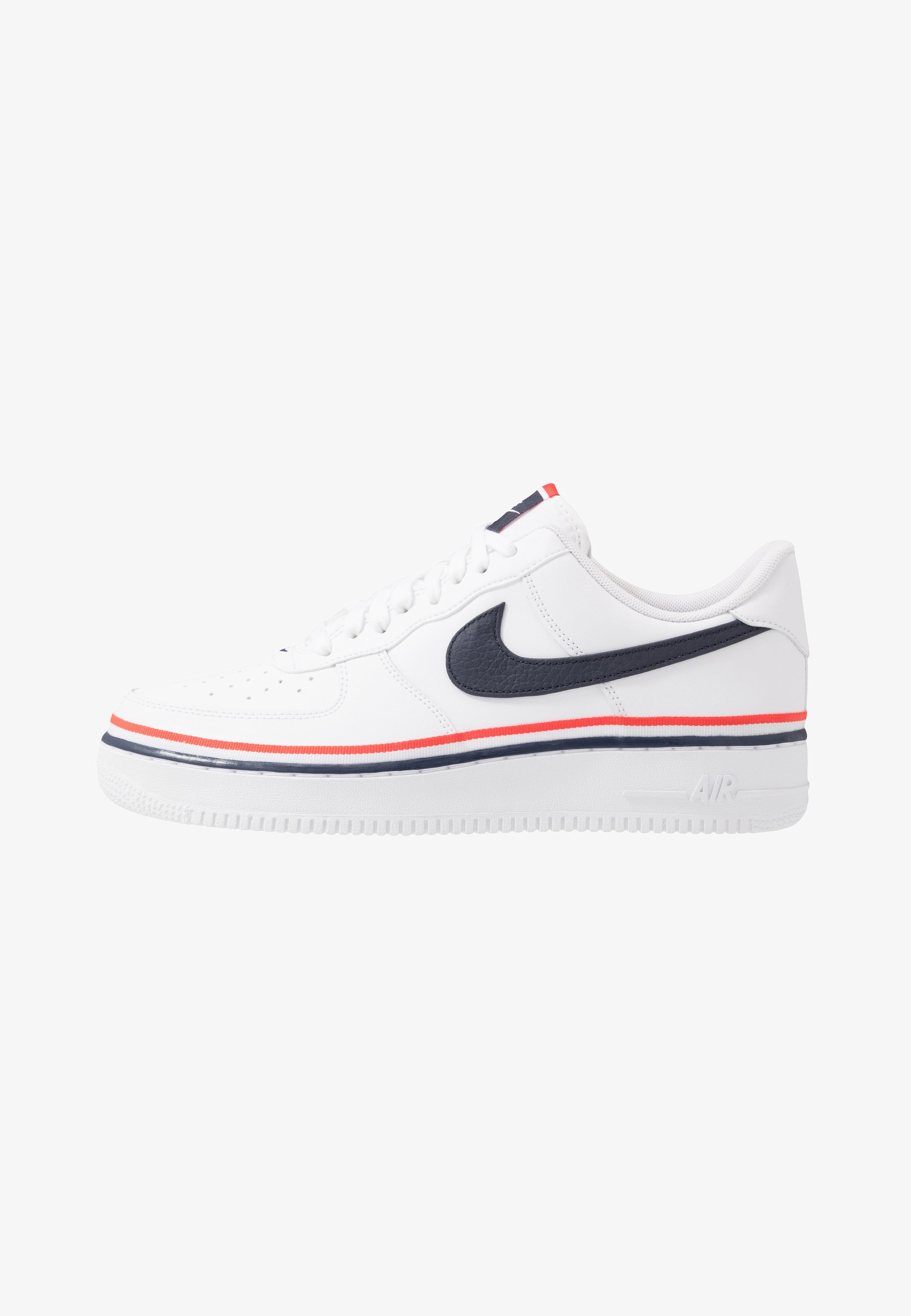 Nike Sportswear Air Force 1 07 Lv8 Sneakers Laag White Obsidian Habanero Red Wit Zalando Nl