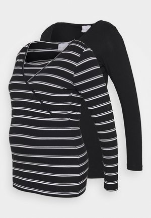 MLLEA MIX 2 PACK - Long sleeved top - black