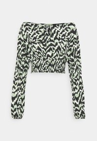 ONLY - ONLPELLA BOW - Long sleeved top - black/green milieu - 5