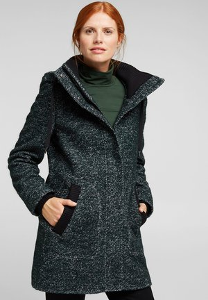 Classic coat - dark teal green