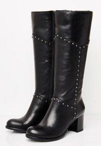usha - Overknee laarzen - black - 5
