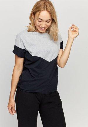 MINA T - T-shirt basic - grey mel./black