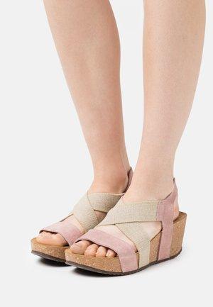 STACIA - Platform sandals - rose