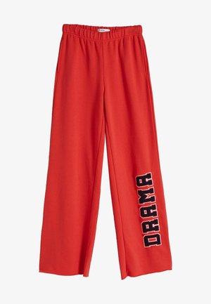 STRAIGHT FIT  - Pantalon de survêtement - red