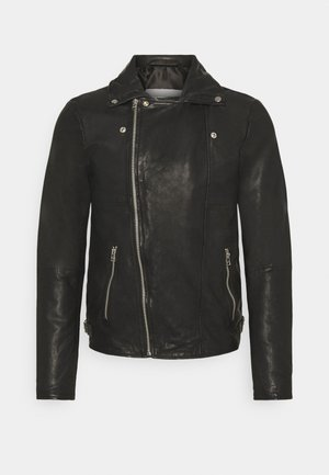 BERLINER BIKER - Veste en cuir - black