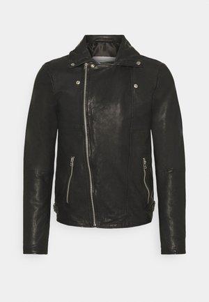 BERLINER BIKER - Kožená bunda - black