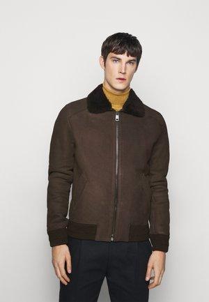 BURGALESE  - Kožená bunda - dark brown