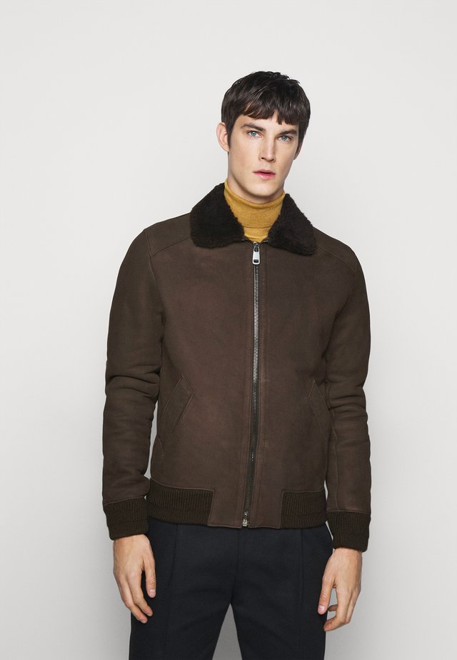 BURGALESE  - Veste en cuir - dark brown