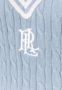Lauren Ralph Lauren - GASSED V NECK  - Jumper - dust blue - 2