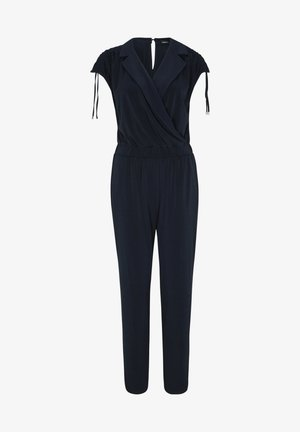 JUMPSUIT MET GERIMPELD EFFECT - Jumpsuit - navy