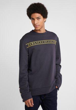 FELPA CON RICAMO - Sweatshirts - blue