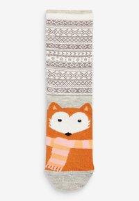 Next - FAIRISLE PATTERN ANIMAL FACES  FIVE PACK - Socks - red - 4