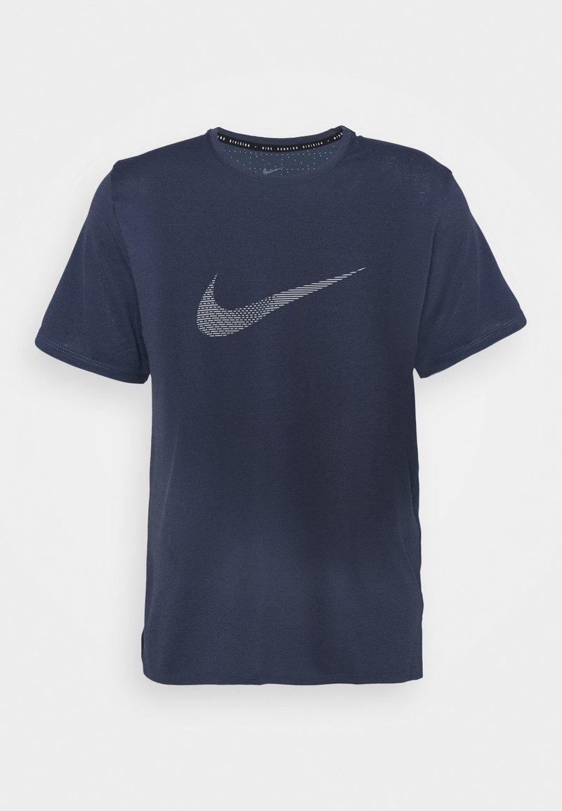 Nike Performance - RUN MILER - Print T-shirt - thunder blue/silver