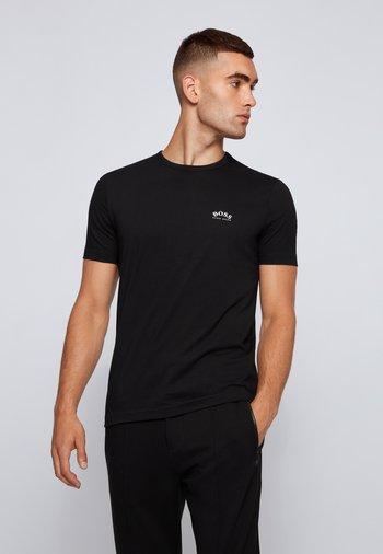 TEE CURVED - T-shirt basic - schwarz