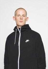 Nike Sportswear - Zip-up hoodie - black/ice silver/white - 3