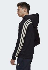 adidas Performance - WINTER 3-STRIPES FULL-ZIP HOODIE - Zip-up hoodie - black - 2