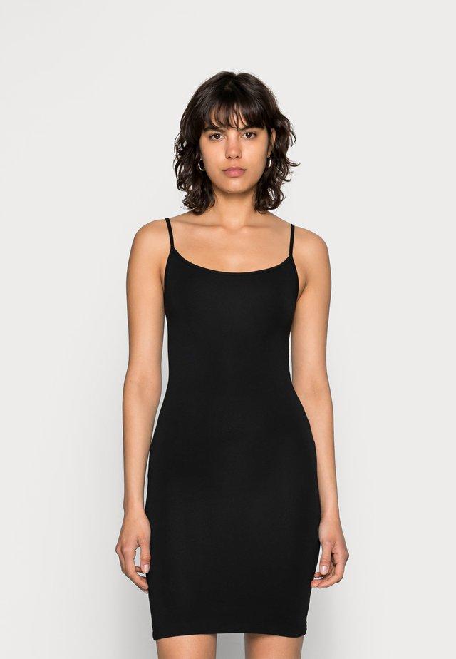 TALLA SLIP DRESS - Etui-jurk - black