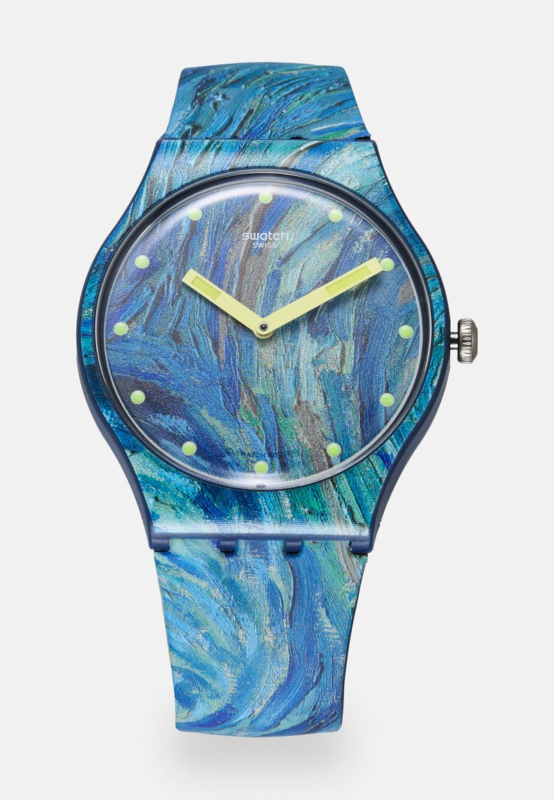 Swatch - THE STARRY NIGHT BY VINCENT VAN GOGH UNISEX - Hodinky - blue