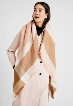 ONLALDINI SQUARE SCARF  - Skjerf - misty rose/cloud dancer/toasted