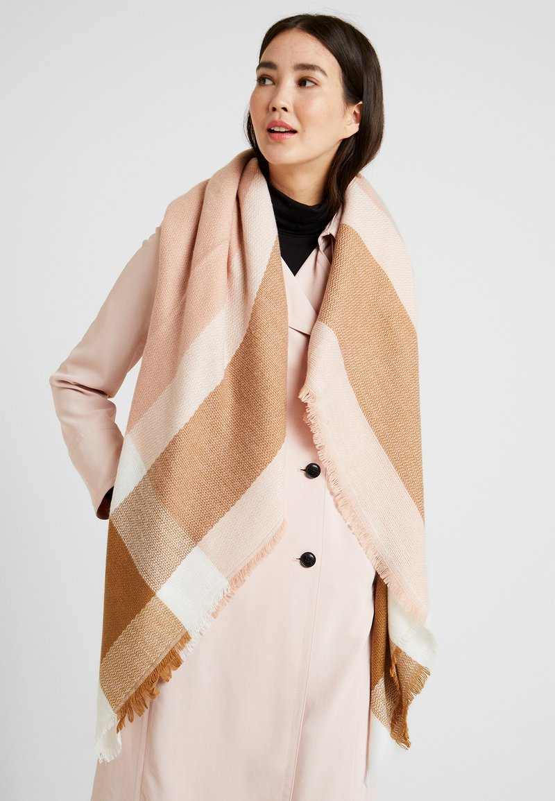 ONLY - ONLALDINI SQUARE SCARF  - Foulard - misty rose/cloud dancer/toasted