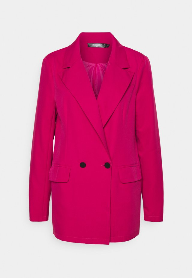 DOUBLE BREASTED JACKET - Blazer - pink