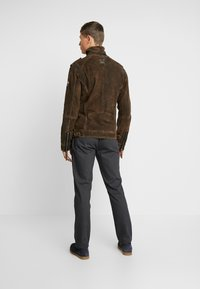 Freaky Nation - ELECTRIC MAN - Leather jacket - olive - 2