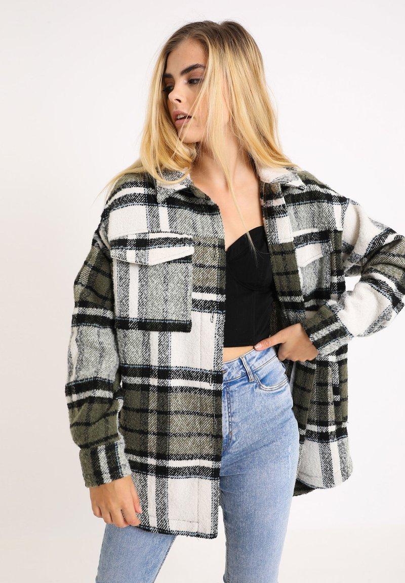 Pimkie - Krátký kabát - khaki