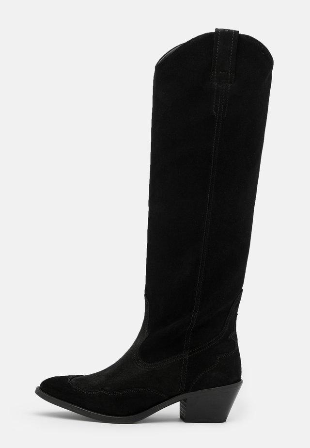 VALERY - Kozačky nad kolena - black